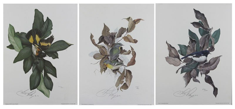 Three (3) C. Ford Riley  Florida Signed Prints with