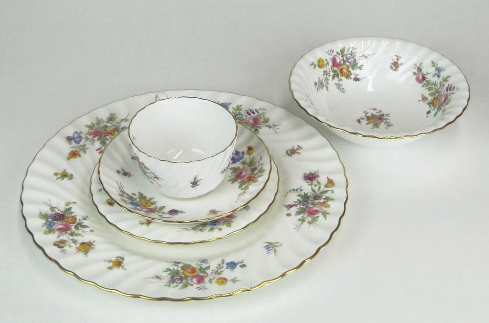 Forty-Two (42) Piece English Minton Bone China Partial