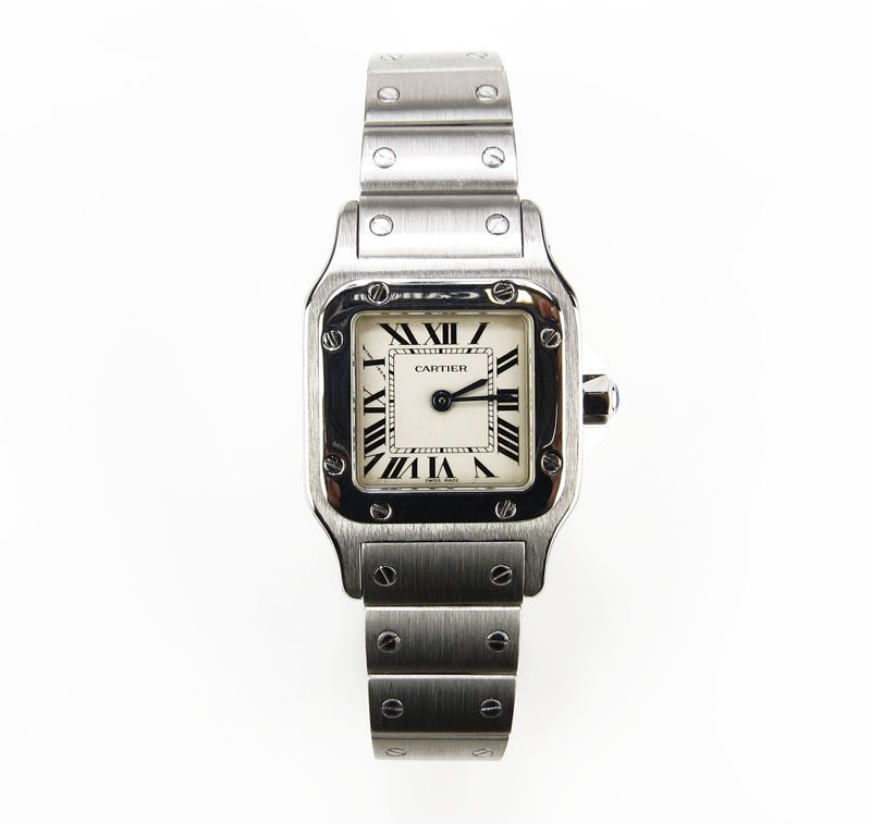 AIG Certified Cartier Stainless Steel Santos Wristwatch