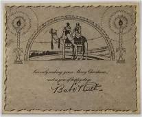 Reprint of 1920's Babe Ruth Original Christmas Card.