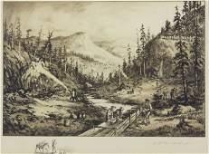 Charles A. van der Hoof American (1853-1918) Etching on