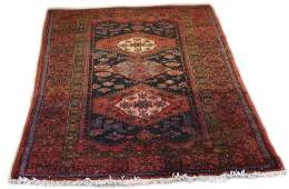 Hand Woven Semi Antique Persian Area Rug Unsigned