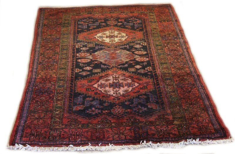 Hand Woven Semi Antique Persian Area Rug. Unsigned.