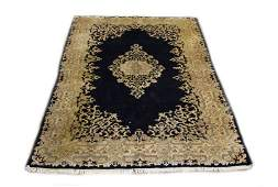 Hand Woven Persian Style Area Rug Unsigned Dirty