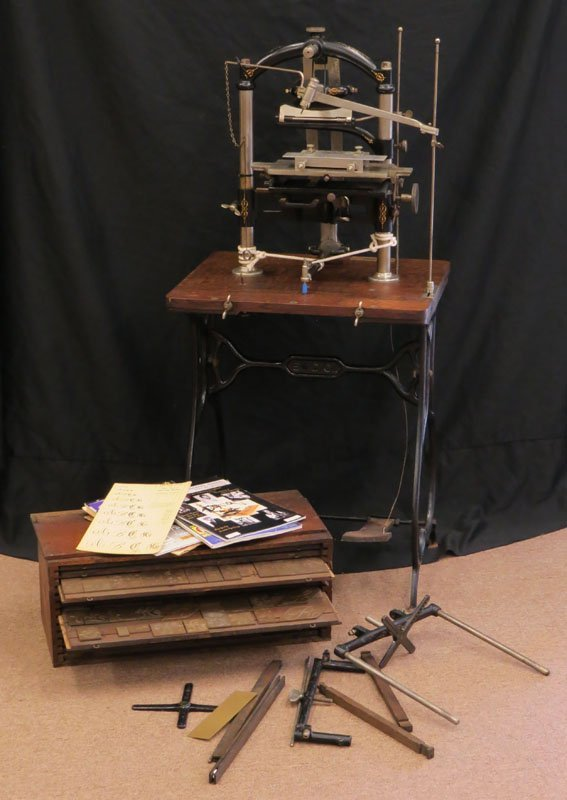 1895 New Century Pantograph Engraving Machine with Hand