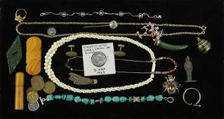 Collection of Costume Jewelry and Related Items.