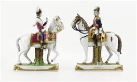 """Two (2) German Hand Painted and Gilt """"Soult"""" and """"Garde"""