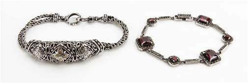 Two (2) Sterling Silver Ladies Bracelets. One (1) is