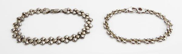 Two (2) Art Deco Sterling Silver Bracelet. One (1)