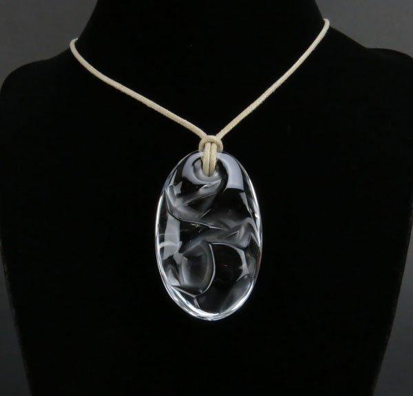 Rene Lalique Fleur de Ronces Crystal Pendant in