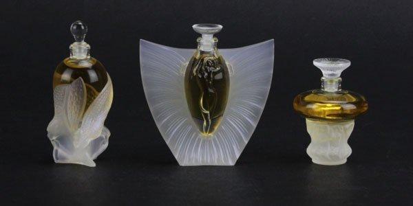 Lalique Crystal Les Flacons Miniature Perfume Bottles