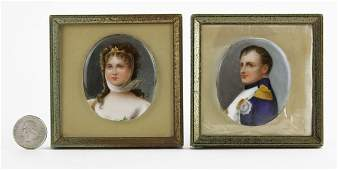 Early 20th C. Hand Painted Porcelain Miniature Plaques
