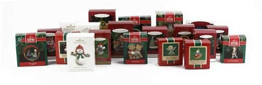 Box Lot of Hallmark Keepsake Christmas Ornaments in