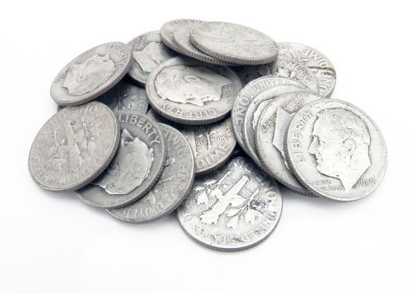 Lot of Twenty-Five (25) U.S. Silver Dimes from Various