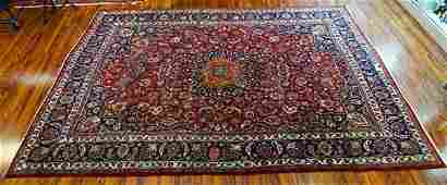 SemiAntique Large Persian Rug Unsigned Wear