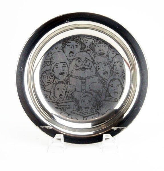 1972 Norman Rockwell Franklin Mint Sterling Silver