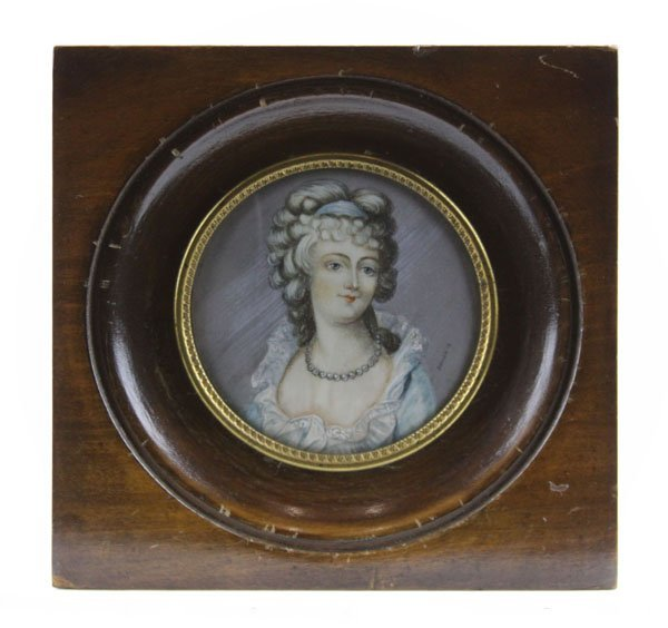 Old Victorian Style Hand Painted Ivory Miniature in