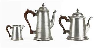 Collection of three 3 Kirk Stieff Colonial Pewter