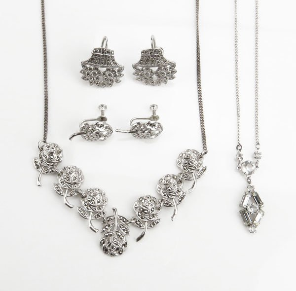 Sterling Silver and Marcasite Suite. Includes Two (2)