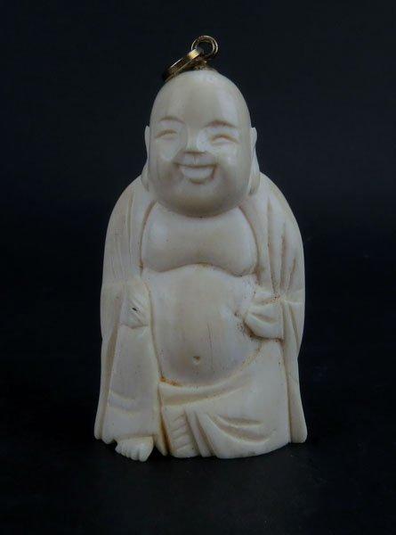 Chinese Craved Buddha Figure Turned into Pendant. Good