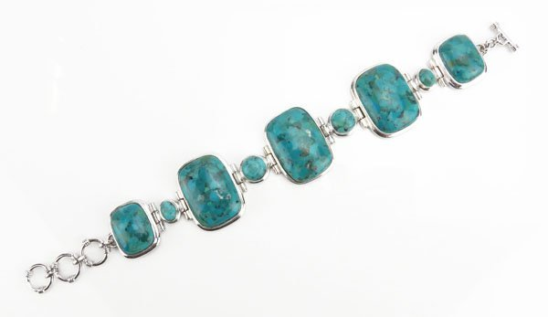 Sterling Silver Turquoise Style Semi-Precious Stone