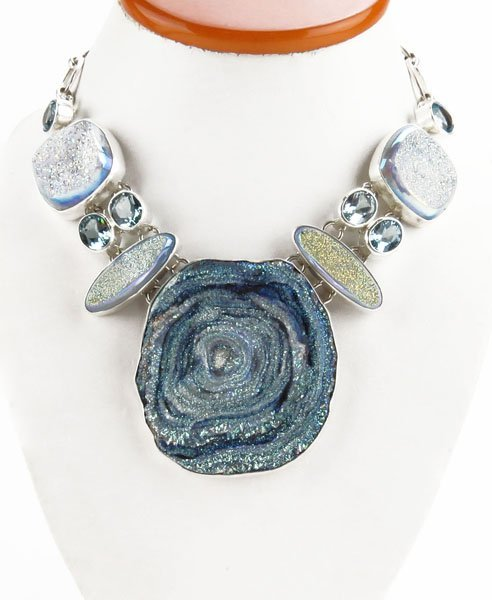 Sterling Silver Hand Crafted Druzy and Gemstone