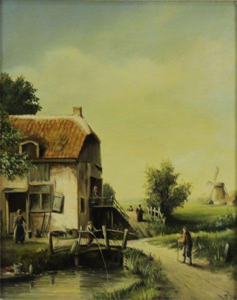 Jan Joppe (20th Century) Framed Oil on Wooden Board of