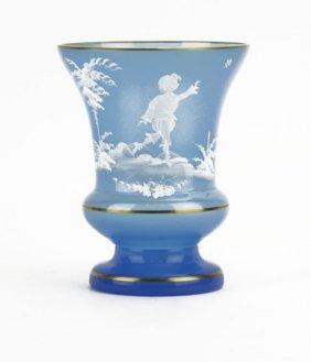 Vintage Bristol Mary Gregory Style Vase. Good