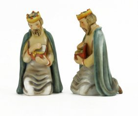 Lot Of Two (2) Goebel Hummel Porcelain Nativity Figures