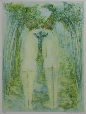 "Barbara A. Wood Limited Edition Impressionist Nudes ""un"