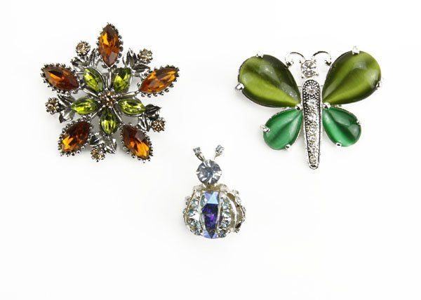 Lot of Three (3) Pins. Includes Two (2) Insect Shaped