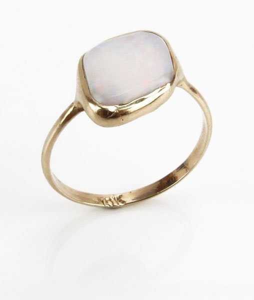10 Karat Gold and Opal Ring. Stamped. Ring Size 6.