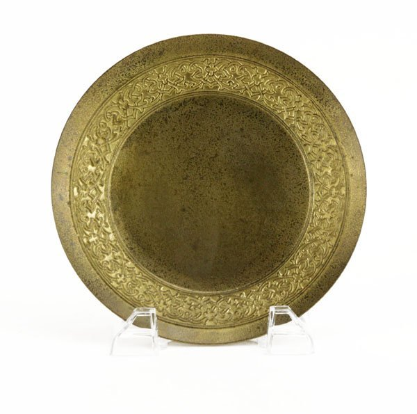 Tiffany Studios New York Dore Bronze Plate. Marked.