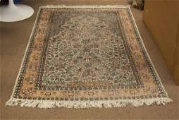 Wool PersianStyle Area Rug Minor Wear or else Good Co
