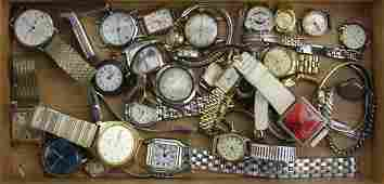 Tray Lot of Miscellaneous Watches Some Ozzie Eugenia