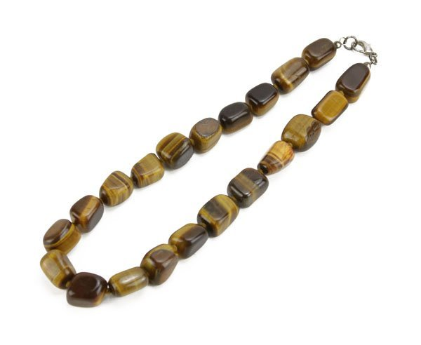 Vintage Tiger Eye Beaded Necklace. Good Condition. Meas