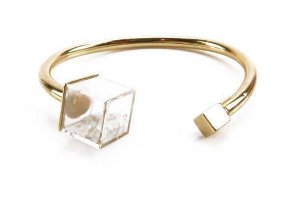 Vintage 18 Karat Yellow and Loose Diamond Bangle Bracel