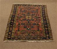 Antique Hand Knotted Floral Persian Sarough Area Rug W