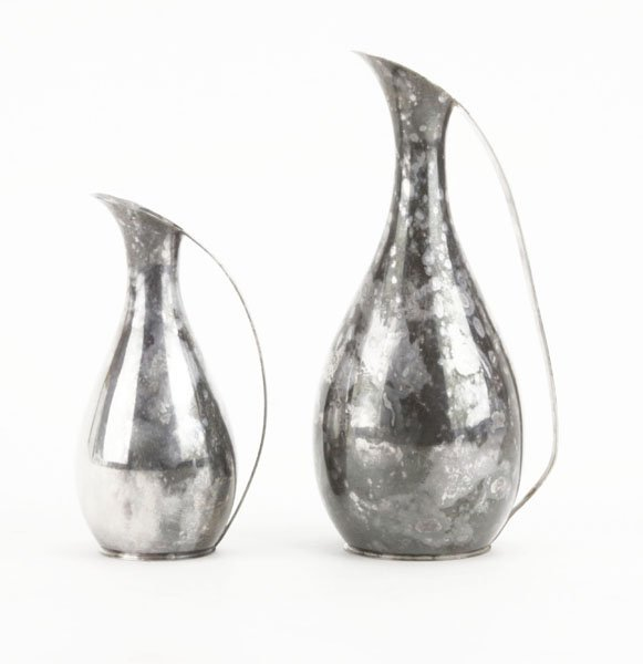 Two (2) Modern HF Sterling Silver Miniature Pitchers. S