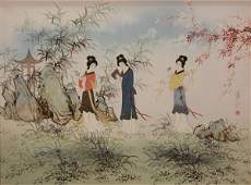 Large Contemporary Japanese Oil on Canvas Painting Gei