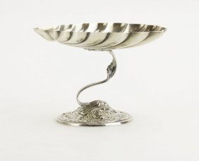Weighted Gorham Repousse Sterling Silver Shell Compote.