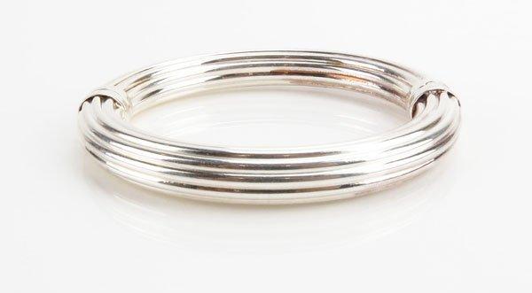 Milor Italy Sterling Silver Bangle Bracelet. Stamped to