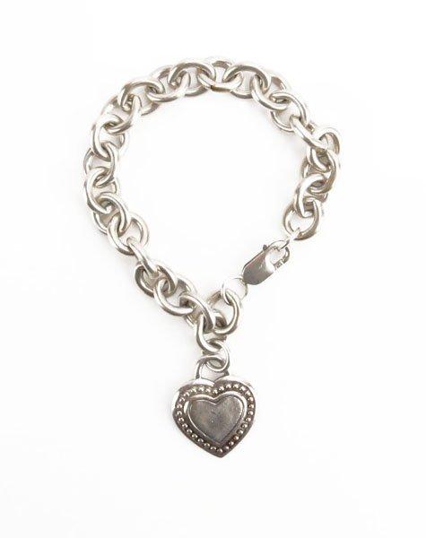 Judith Ripka Sterling Silver Bracelet with Heart Shaped