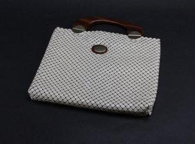 Whiting And Davis Mesh Purse With Tortoise Shell