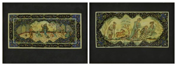 Two (2) 20th Century Finely Detailed Persian Miniatures