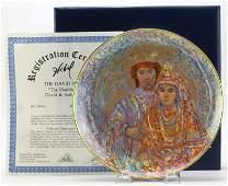 Edna Hibel The David Series Porcelain Collectors Plat