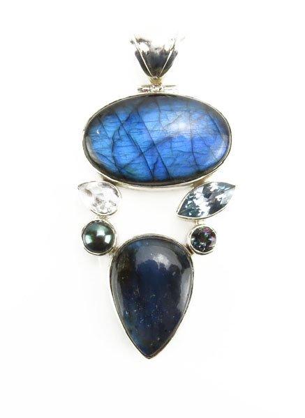 Sterling Silver Labradorite Semi Precious Stone