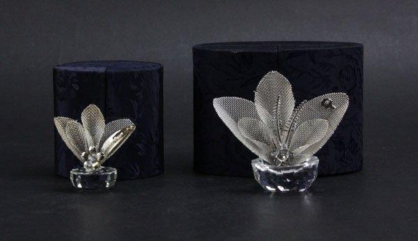 Two (2) Silver and Swarovski Crystal Doca Preziosi