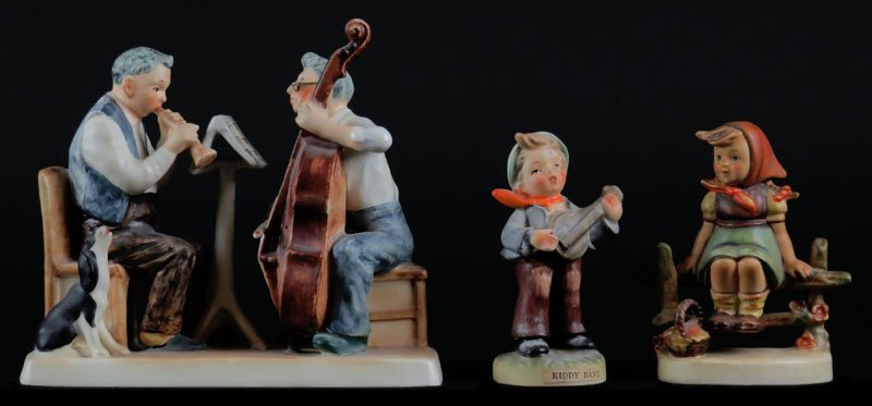 Three (3) Figurines Including: Goebel Hummel  Norman