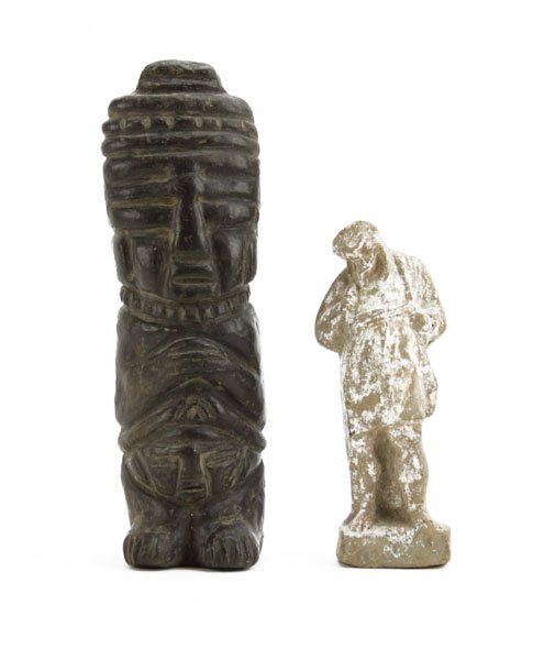 Pre Columbian Style Carved Sculpture along with